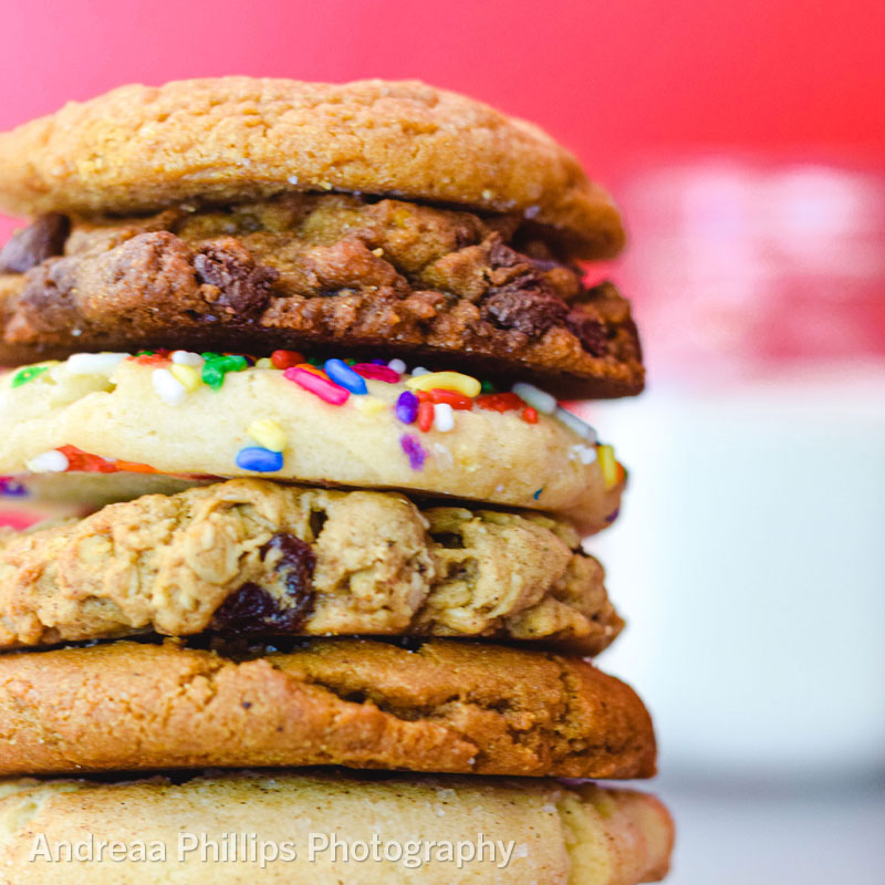 A stack of fresh cookies