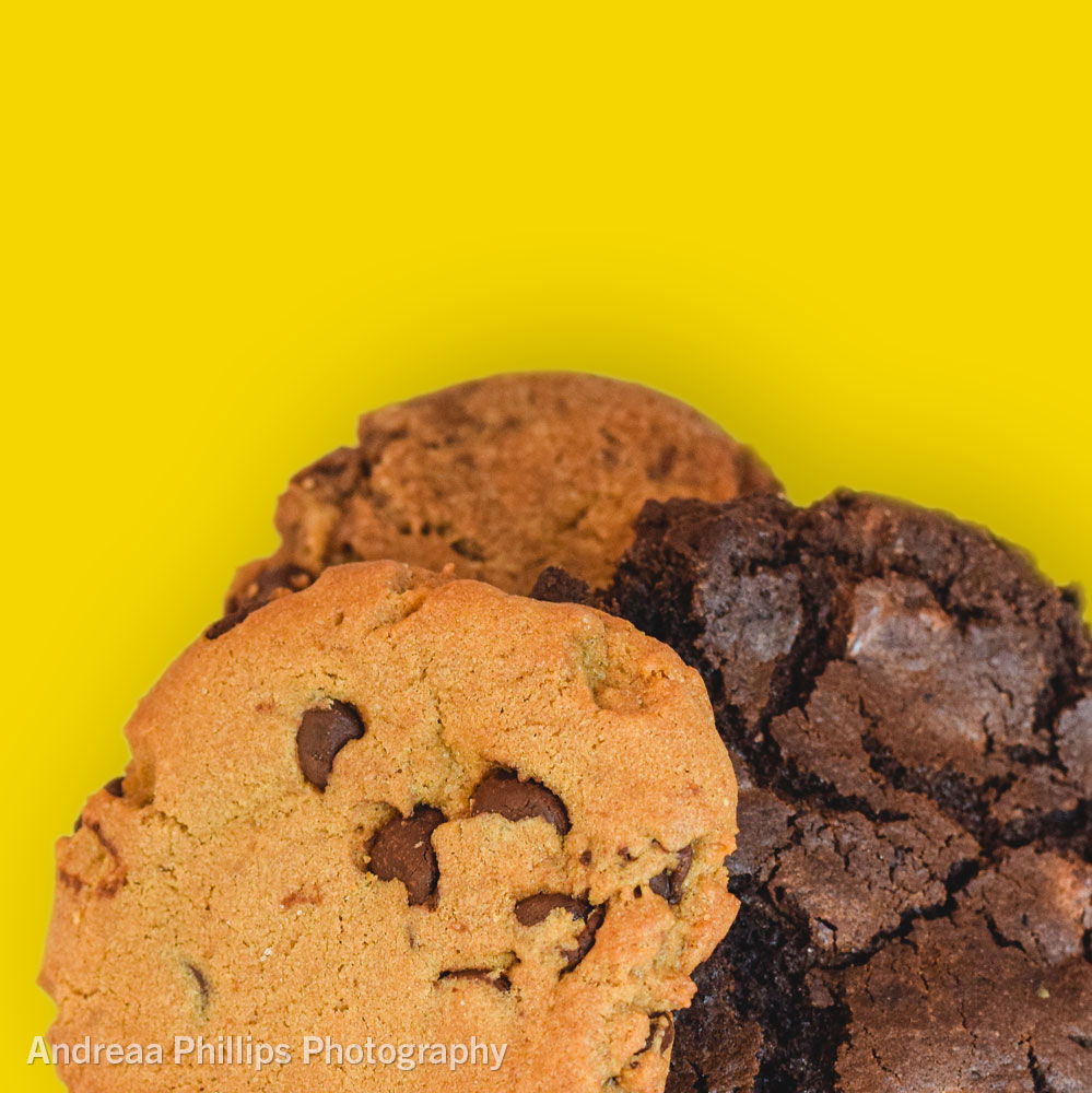 Chocolate Chip, Double Chocolate, and Ginger Molasses