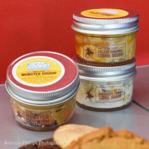 Edible cookie dough jars