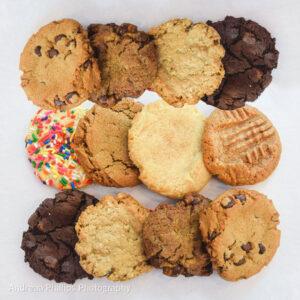 one dozen assorted cookies